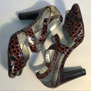 BCBGirls Brown Alligator Print Shoes